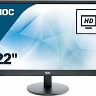 AOC E2270SWHN - Monitor de 21.5'' Full HD (resolución 1920 x 1080 Pixels, tecnología WLED, Contraste 600:1, 5 ms, VESA, HDMI)