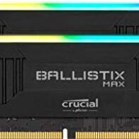 Crucial Ballistix MAX BLM2K8G44C19U4BL RGB, 4400MHz, DDR4, DRAM, Memoria Gamer para Ordenadores de sobremesa, 16GB (8GB x2) CL19, Negro