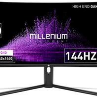 Millenium MD34PRO - Monitor Curvo Gaming de 34'' QHD (3440x1440, 144 Hz, 1ms, VA, QLED, 350cd/m2, HDR400, 21:9, 2X HDMI, 2X Display Port) Negro
