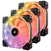 Corsair HD120 RGB - Ventilador de PC (120 mm, Iluminación a LED RGB Programable), Paquete Triple con Controlador de iluminación