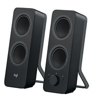 Logitech Z207 Sistema de Altavoce Bluetooth para PC, Sonido Estéreo, 10W de Pico, Entrada Audio 3.5 mm, Toma Auriculares, Multidispositivos, Enchufe EU, Ordenador/TV/Smartphone/Tablet, Negro