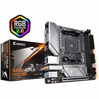 Gigabyte Technology B450 I AORUS Pro WiFi - Placa Base (DDR4-SDRAM, DIMM, 2133,2400,2667,2933 MHz, Dual, 32 GB, AMD)