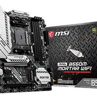 MSI MAG B550M MORTAR WIFI - Placa Base Arsenal Gaming (AMD AM4 DDR4 M.2 USB 3.2 Gen 2 HDMI MICRO ATX), AMD Ryzen 5000 Series processors
