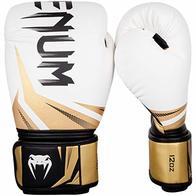 Venum Challenger 3.0 Guantes de Boxeo, Unisex Adulto, Blanco/Dorado, 14 Oz