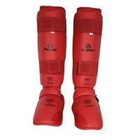 Hayashi 343espinilleras y pie Mixta, Unisex Adulto, Color Rojo, tamaño Extra-Large