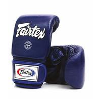 Fairtex Muay Thai guantes de boxeo tgo3tgt7color: negro rojo azul blanco amarillo tamaño: mediano y grande formación y bolsa de boxeo guantes de boxeo para MMA, Kick Boxing, K1, XL, TGO3 - Azul