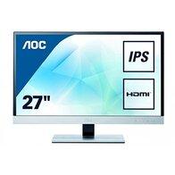 AOC I2757FM - Monitor de 27'' (IPS, MHL, Altavoces), Color Negro y Plateado